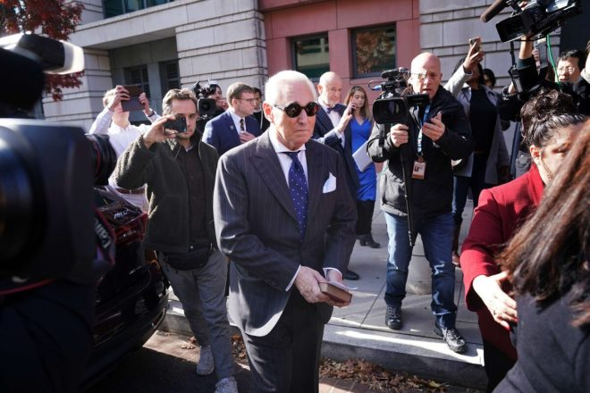 roger stone leaves the court