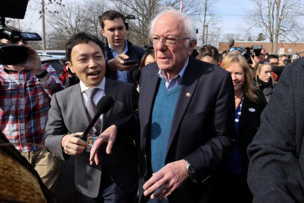 Democratic 2020 U.S. presidential candidate Sanders departs after he and his wife Jane voted in the Vermont primary at their polling place in Burlington, Vermont