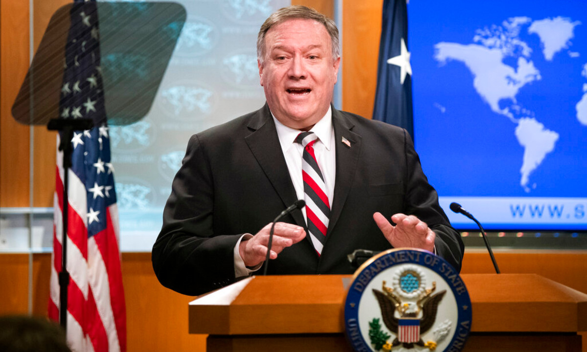Mike Pompeo at news conference