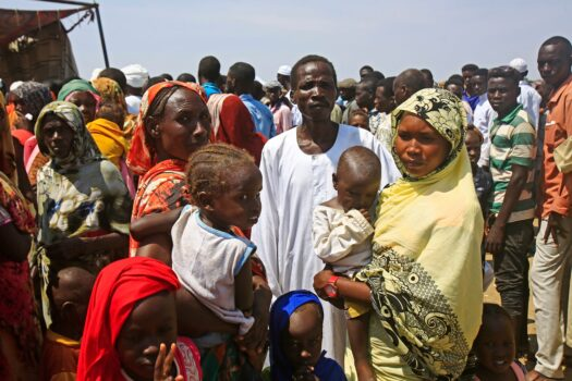 Remembered Sudanese drive to receive humanitarian aid