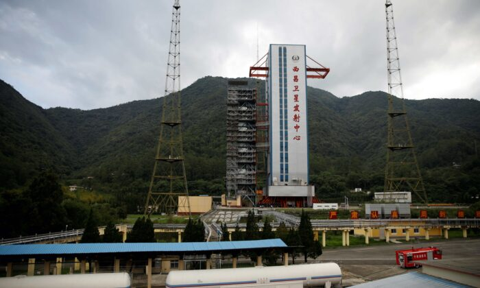 The launch pad of the Xichang Satellite Launch Center is seen the day before the Beidou-3 satellite, the last satellite of China's Beidou Navigation Satellite System, is set to launch in Sichuan province, China, on June 15, 2020. (Carlos Garcia Rawlins/Reuters)
