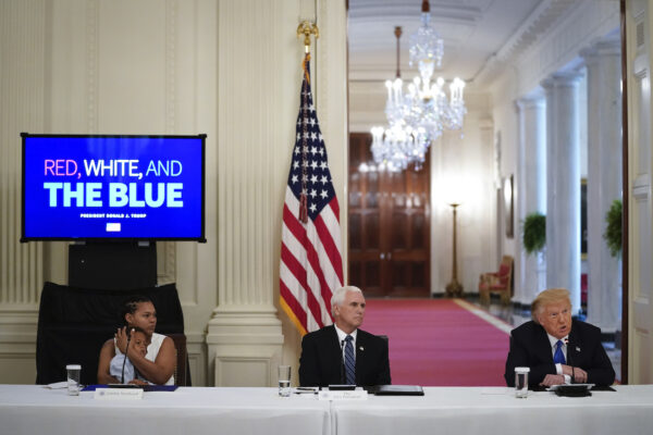 President Trump Participates In Roundtable Discussion On Law Enforcement
