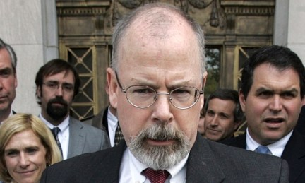 U.S. Attorney John Durham speaks to reporters on the steps of U.S. District Court in New Haven, Conn., on April 25, 2006. (Bob Child/AP Photo)