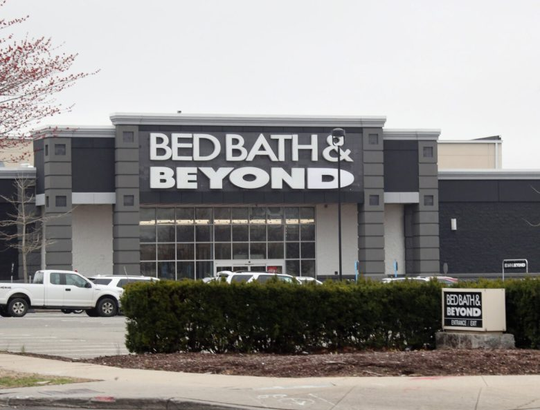 A general view of the Bed Bath & Beyond sign