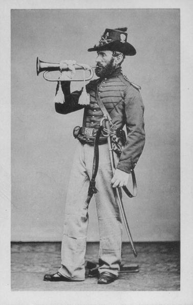 Civil War army bugler