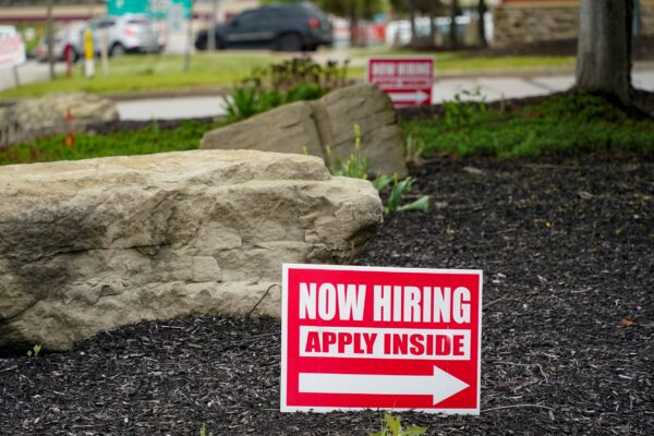 Cranberry Township, PA.  hiring sign in