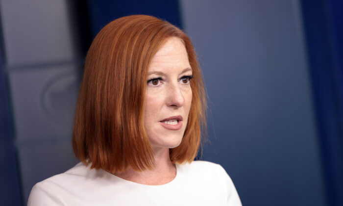 White House press secretary Jen Psaki speaks during a press briefing at the White House on Sept. 8, 2021. (Kevin Dietsch/Getty Images)