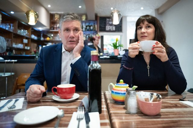 UK Labor Party leader Sir Keir Starmer and Shadow Chancellor Rachel Reeves