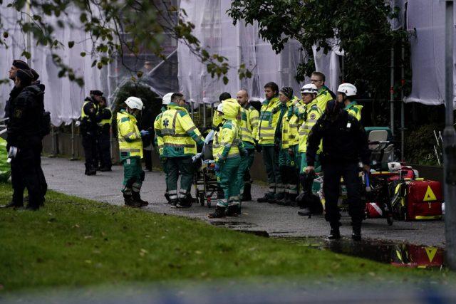 Explosion building in Gothenburg, Sweden
