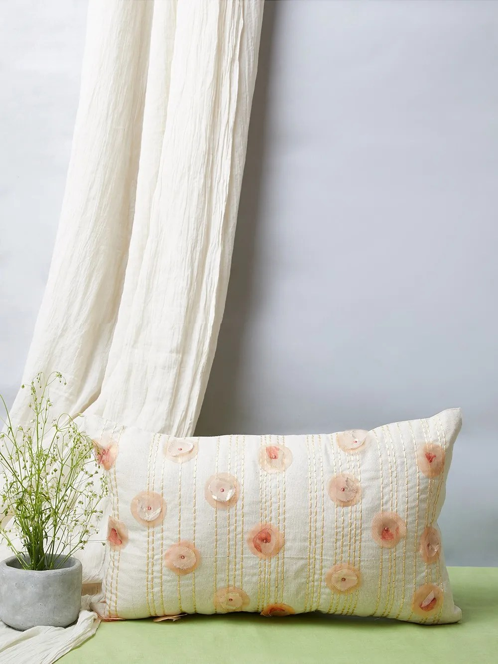 white cotton pillow covers online
