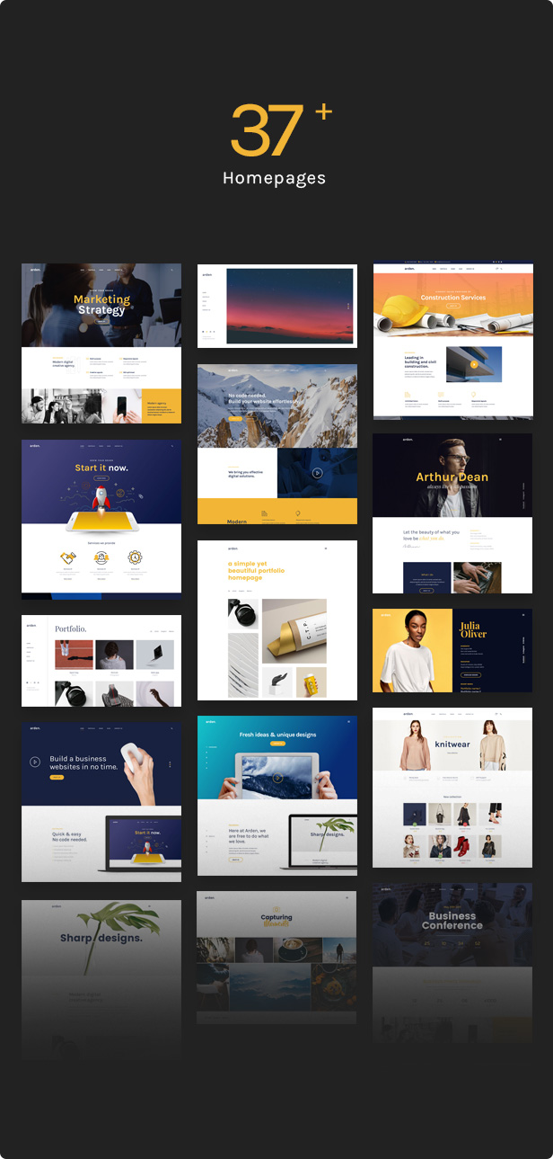 Agency Business Corporation WordPress Theme - 37+ Homepages