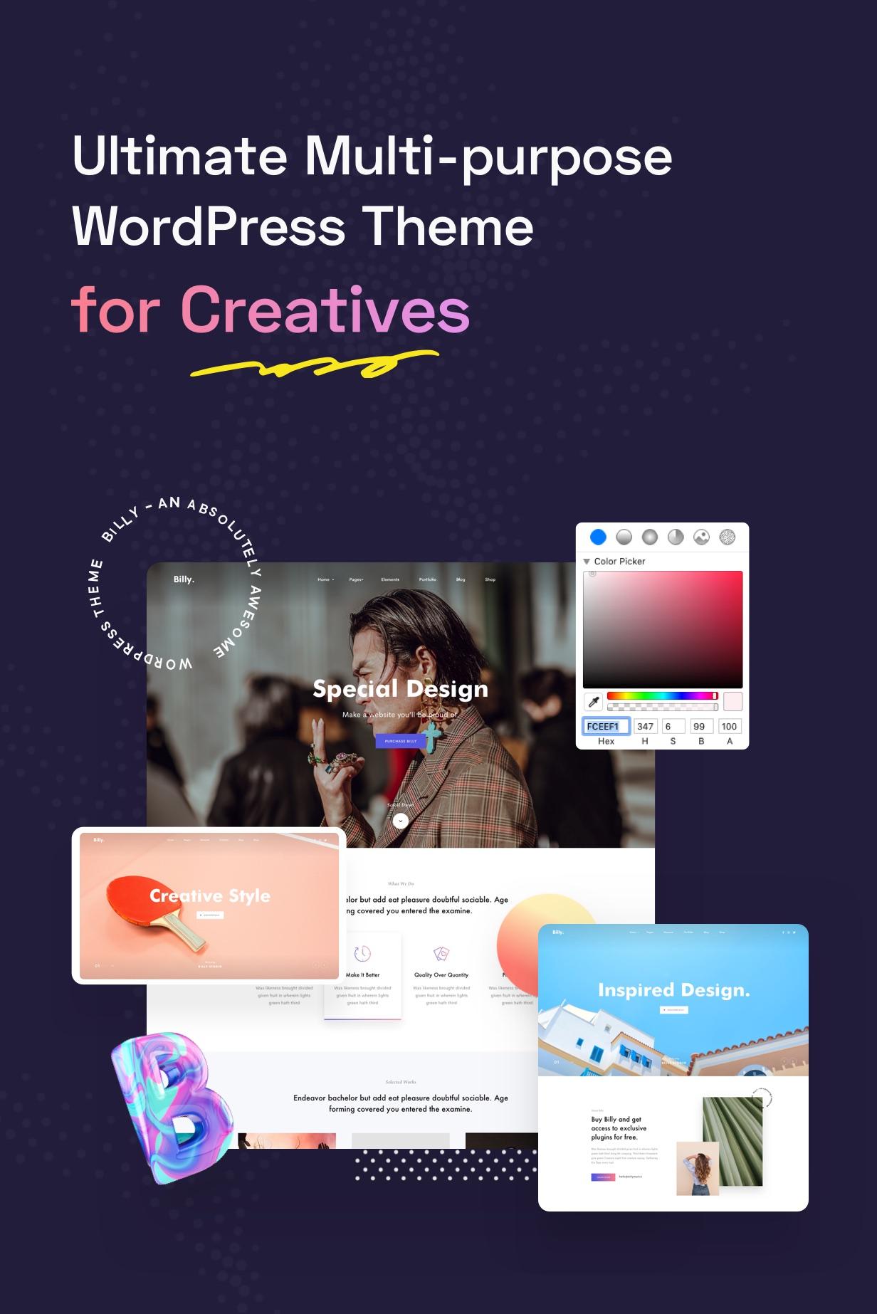 Billey - Creative Portfolio & Agency Elementor WordPress Theme - 5
