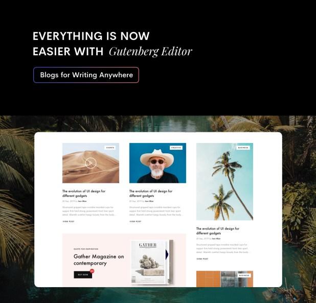 Gutenberg editor for blog