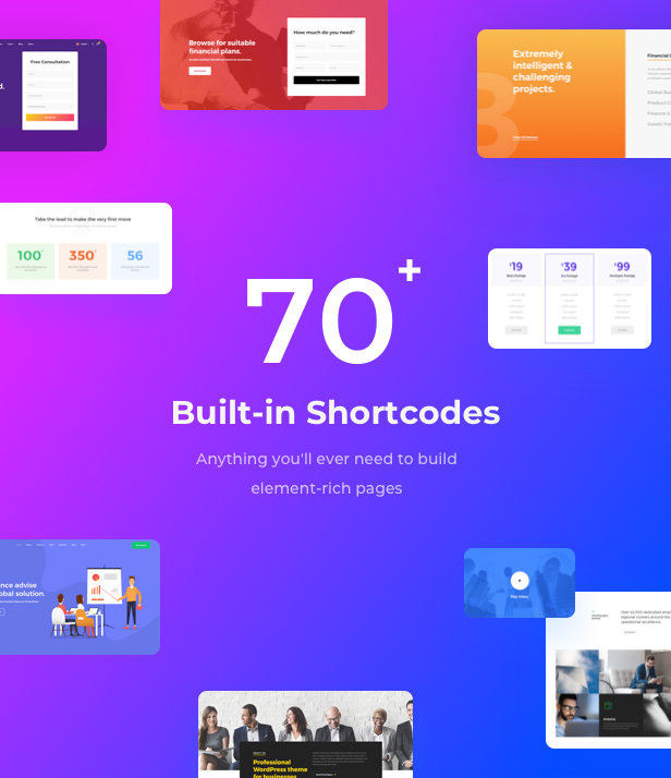 Business Financial Institution WordPress Theme - Unlimited Custom Shortcodes