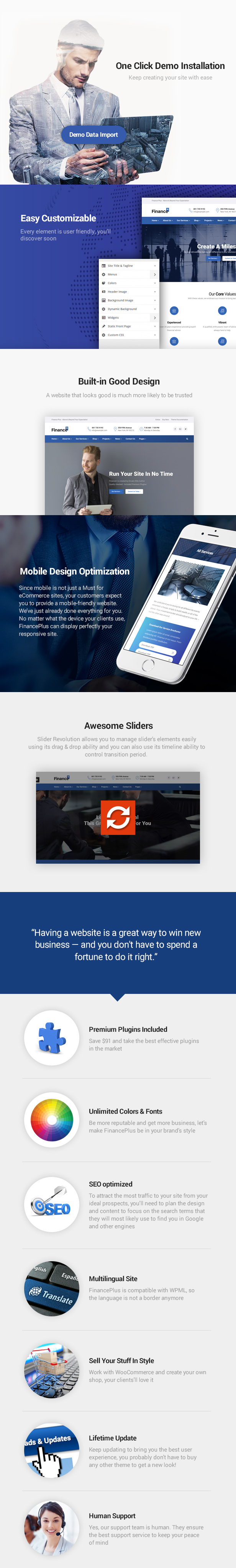 Finance & Finance Business WordPres Theme - Amazing Features