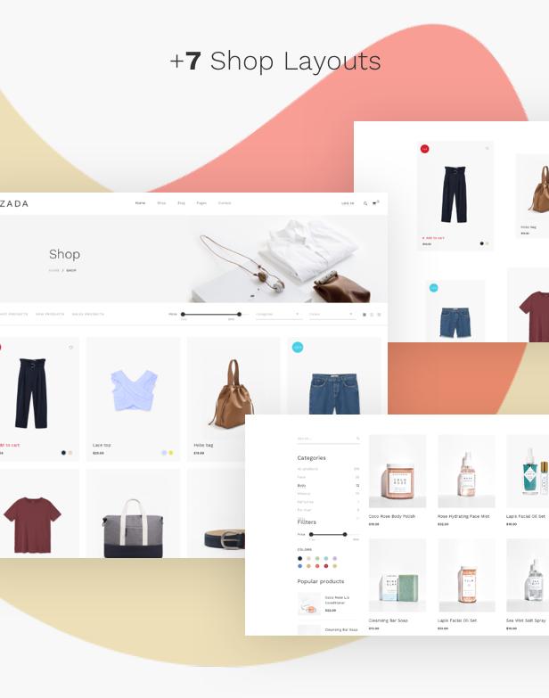 Fashion WooCommerce WordPress Theme - impressive shop layouts
