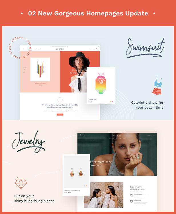 Fashion WooCommerce WordPress Theme - 2 New Homepages