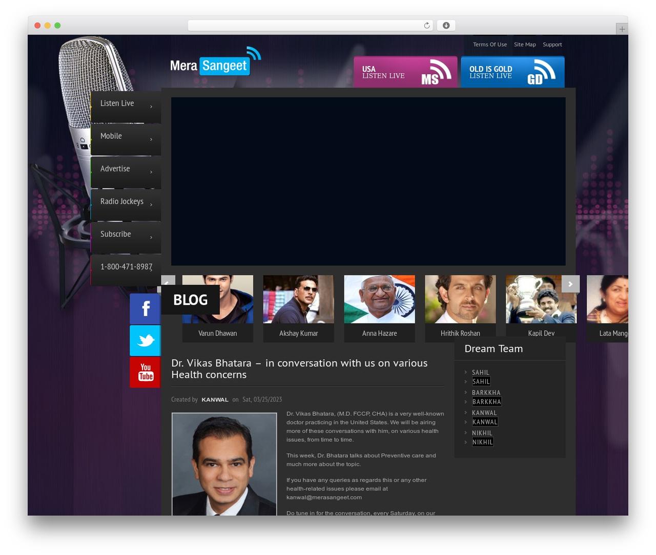 Radiostation Wordpress Website Template By Flashsite