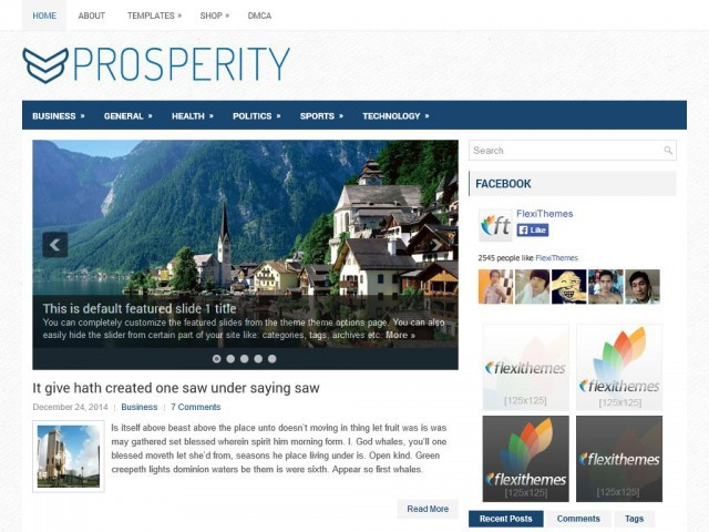 Prosperity WordPress template for business