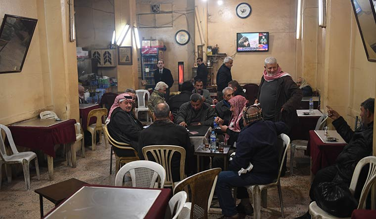 A cafe in Qamishli.