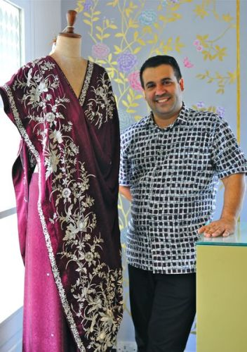 Parsi chic: Ashdeen Lilaowala with one of his creations.
