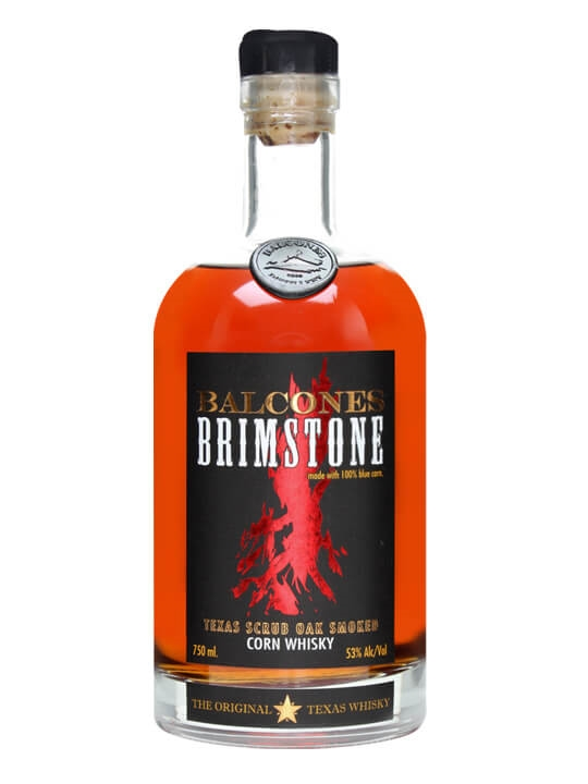 Balcones Brimstone (image from The Whisky Exchange)