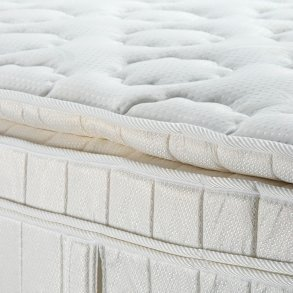 Up Close Photo Of A Pillow Top Mattress