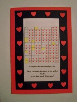 Crossword Puzzle Valentines Card ThriftyFun