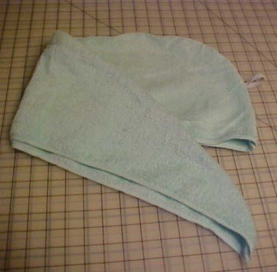Homemade Hair Towel Wrap ThriftyFun