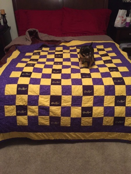 Making Crown Royal Bag Quilts Thriftyfun