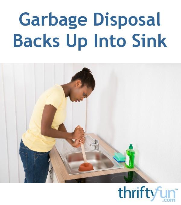 garbage disposal backs up into sink