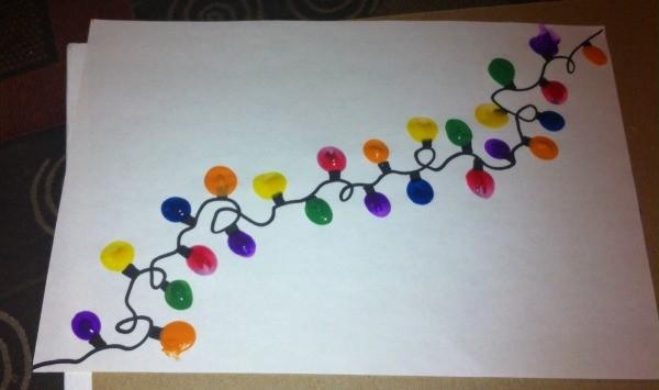 Making Fingerprint Christmas Lights ThriftyFun