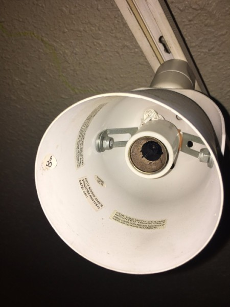 Remove Broken Light Bulb Fixture
