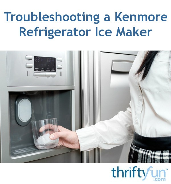 Ice Refrigerator Kenmore Elite Maker