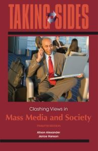 Clashing Views in Mass Media and    book by Jarice Hanson Taking Sides  Clashing Views in Mass Media and Society