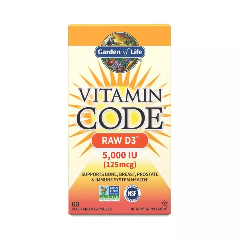 Garden of Life Vitamin Code Raw D3 60 capsules