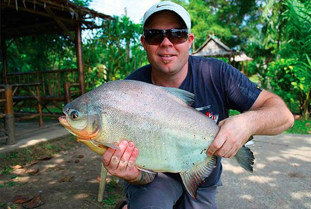 Рыбалка на озере Сабай.