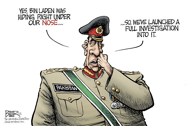 Mebbe the Pakistani army is becoming less relevant? Is it possible. (Cartoon by Beeler / The Washington Examiner / Cagle Cartoons  Read more: http://www.time.com/time/cartoonsoftheweek/0,29489,2071308_2274759,00.html#ixzz1NU422ahi).