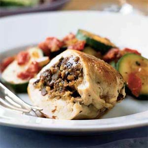 Chicken Breasts Stuffed with Italian Sausage and Breadcrumbs from Cooking Light