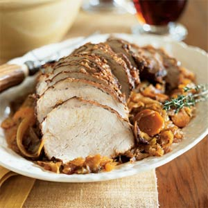 Pork Loin Braised with Cabbage from Cooking Light