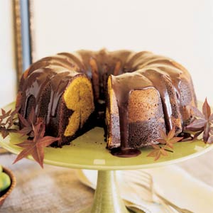 Chocolate-Pumpkin Marble Cake from Sunset