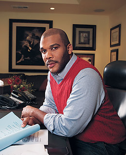 (PHOTO: Christian Lantry / Corbis Outline) Born into poverty and raised in a household scarred by abuse, Tyler fought from a young age to find the strength, faith and perseverance that would later form the foundations of his much-acclaimed plays, films, books and shows, according to his bio at tylerperry.com.