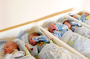 Babies are seen at a perinatal center of Moscow city hospital number 8, October 31, 2011.