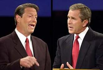 Image result for George W. Bush vs Al Gore
