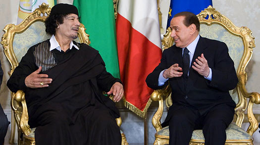 A Carnival of Provocations as Gaddafi Visits Rome