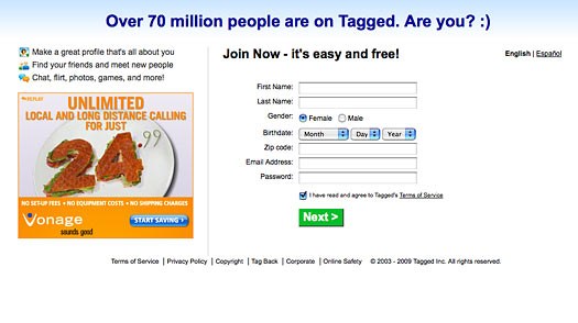 Tagged: The Worlds Most Annoying Website