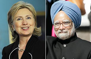 Secretary of State Hillary Clinton Patching Relations with India, an Ignored Ally