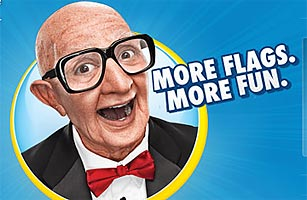 Why Is Six Flags Using a Creepy Old Guy to Attract Kids?