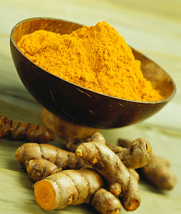 Turmeric root and ground turmeric