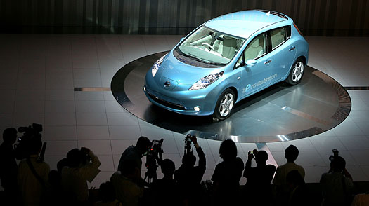 Nissans New Leaf: An Electric Car and Charging Stations, Too
